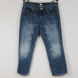 Gap Slim Boyfriend Jeans Distressed Size 12R W 31